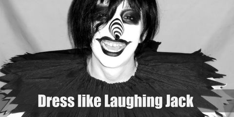 Laughing Jack once wore a myriad of colors when he was still a happy friend of Isaac's. Now Laughing Jack only wears two colors: black and white.