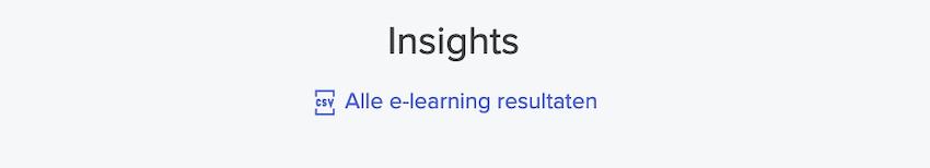 De nieuwe knop voor het exporteren van e-learningresultaten