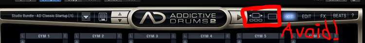 Addictive Drums 2 interface picture