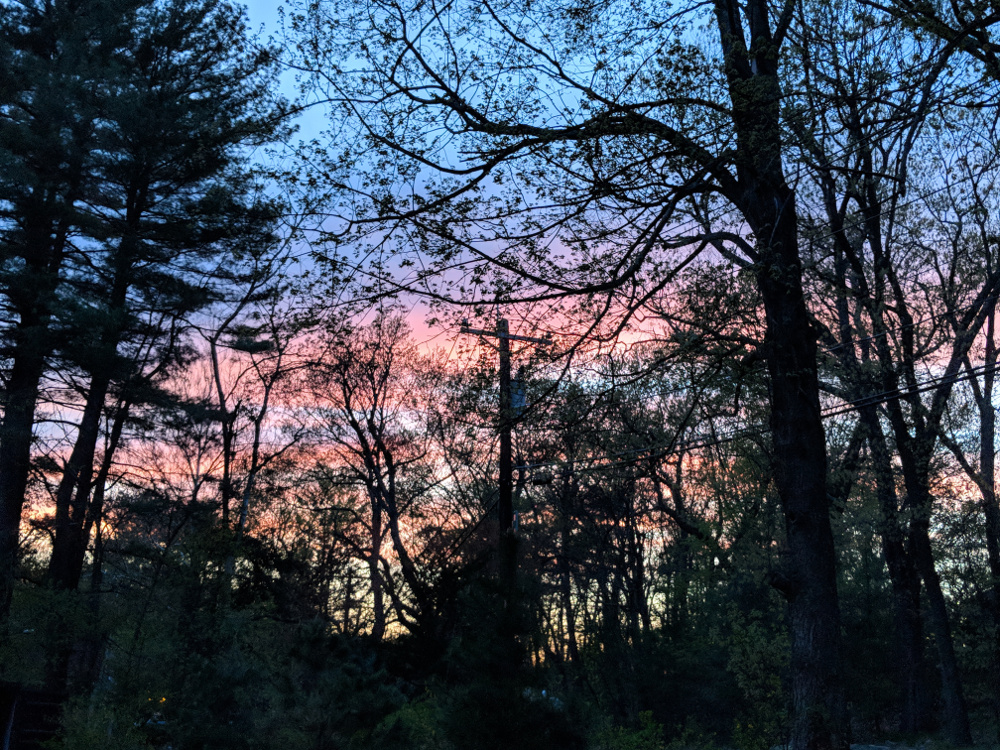 Image of a sunset outside my front door, taken by me.