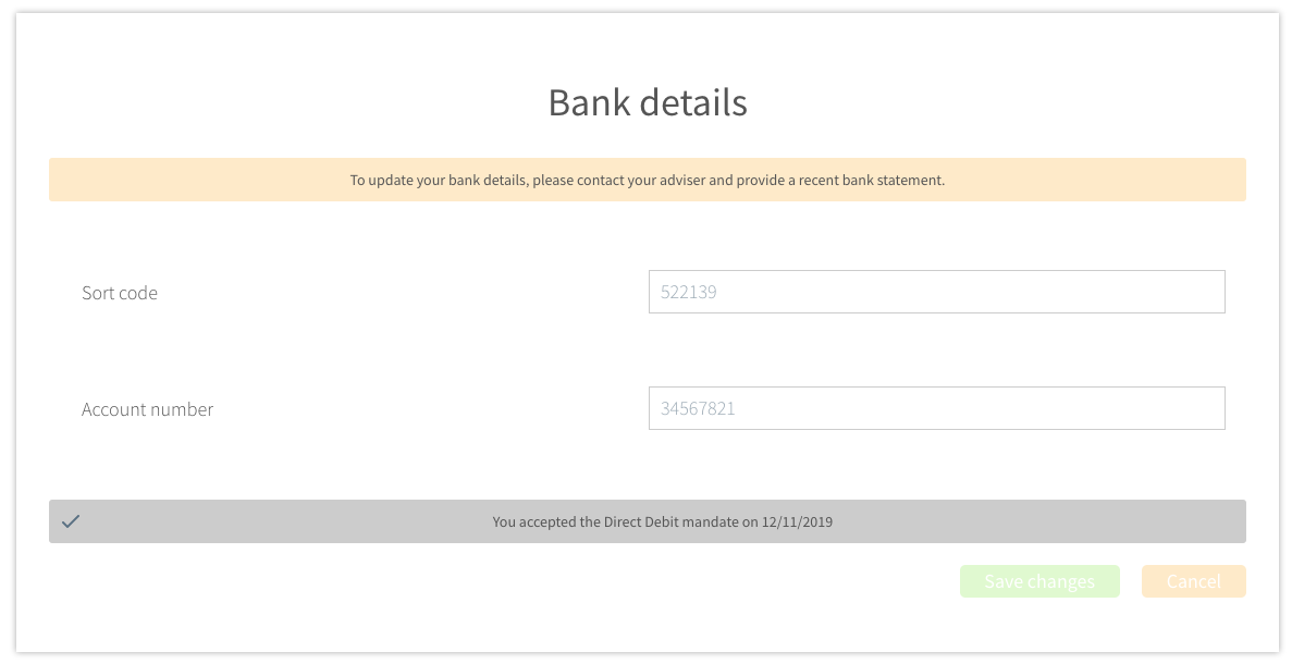 ui update bank details