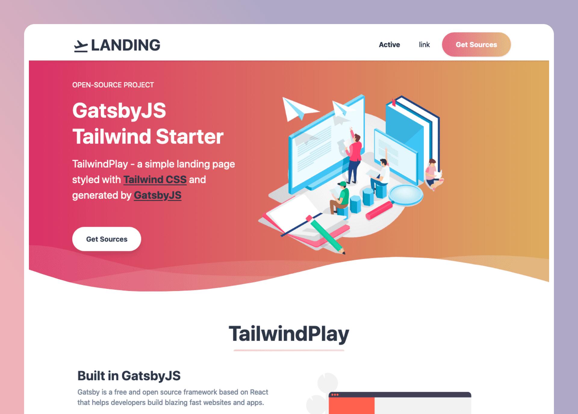 Gatsbyjs Starter Tailwindplay- cover