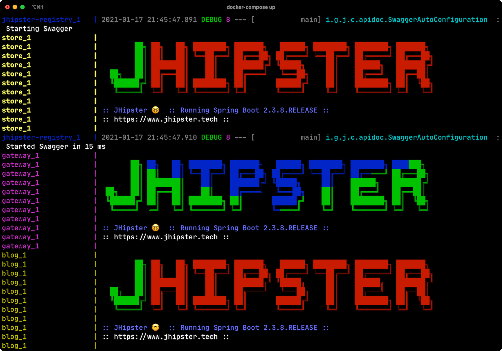 JHipster colors