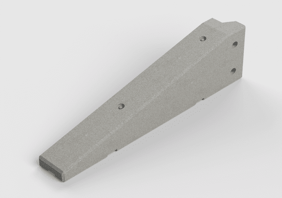 Concrete Lego Block End 1