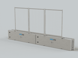 Concrete Barriers with Fence