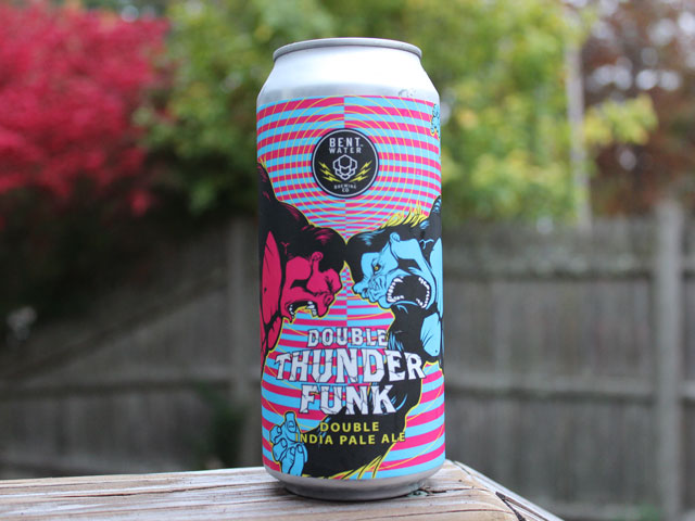 Double Thunder Funk, a Double IPA brewed by Bent Water Brewing Company