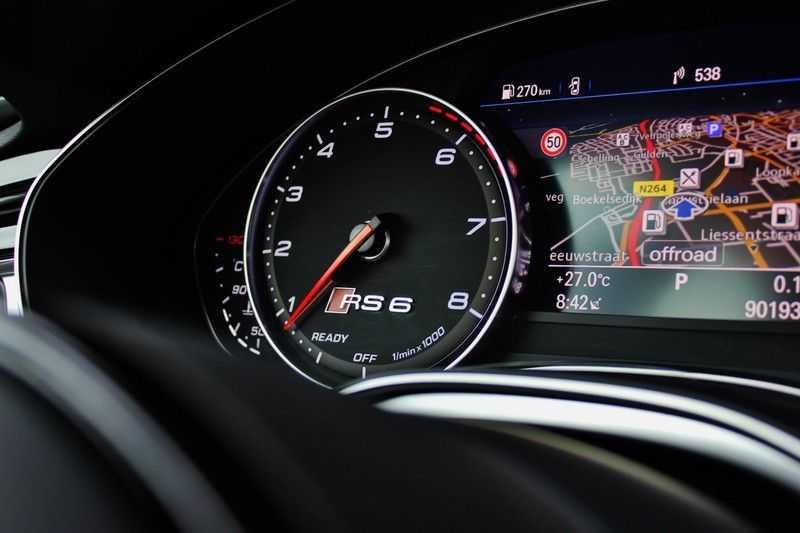 Audi RS6 4.0 V8 605pk Performance Quattro **Pan.dak/HUD/ACC/Camera/Carbon** afbeelding 23