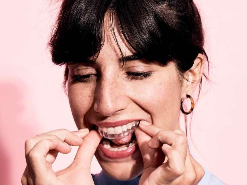 Durchsichtige Zahnschiene von DrSmile