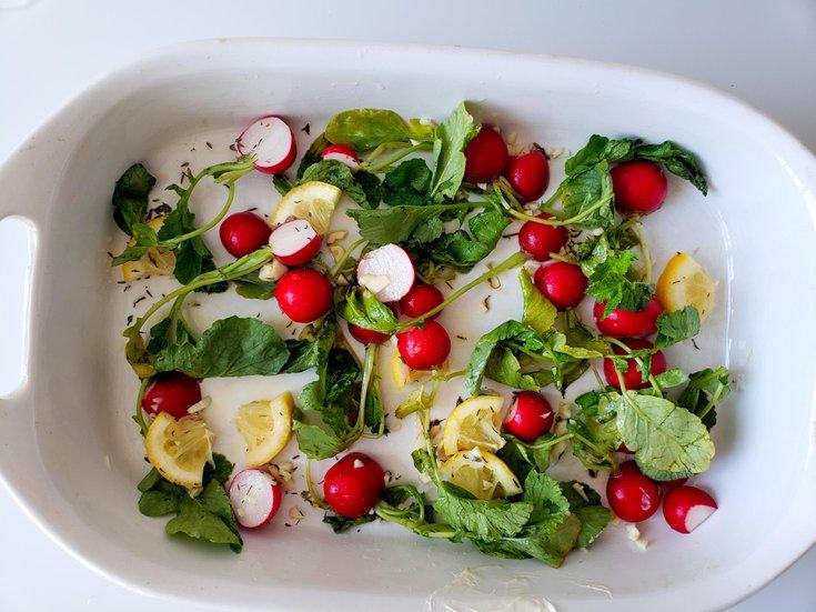 Lemon radishes