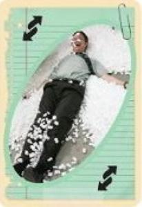 The Office Seafoam Green Uno Reverse Card