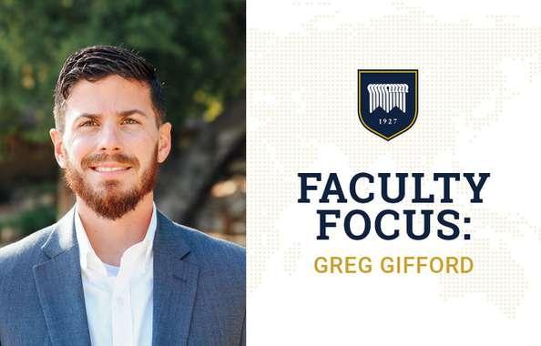 Faculty Focus: Greg Gifford