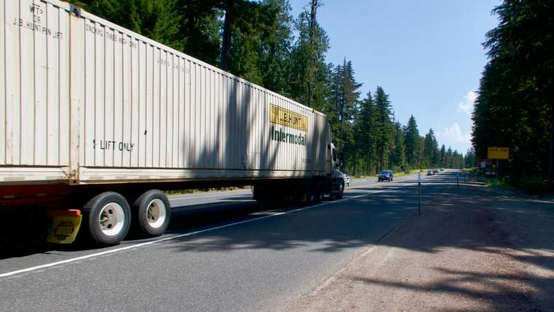 Heavy traffic on Highway 26