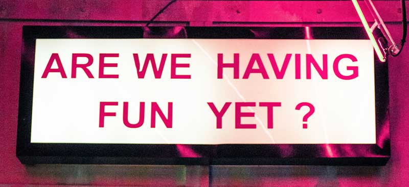 Are we having fun yet sign