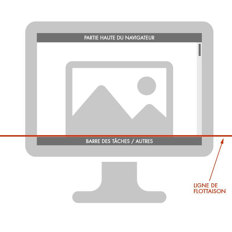 Un écran d'ordinateur qui indique où se trouve la ligne de flottaison: elle est tout en bas de l'écran, juste au-dessus de la barre des tâches
