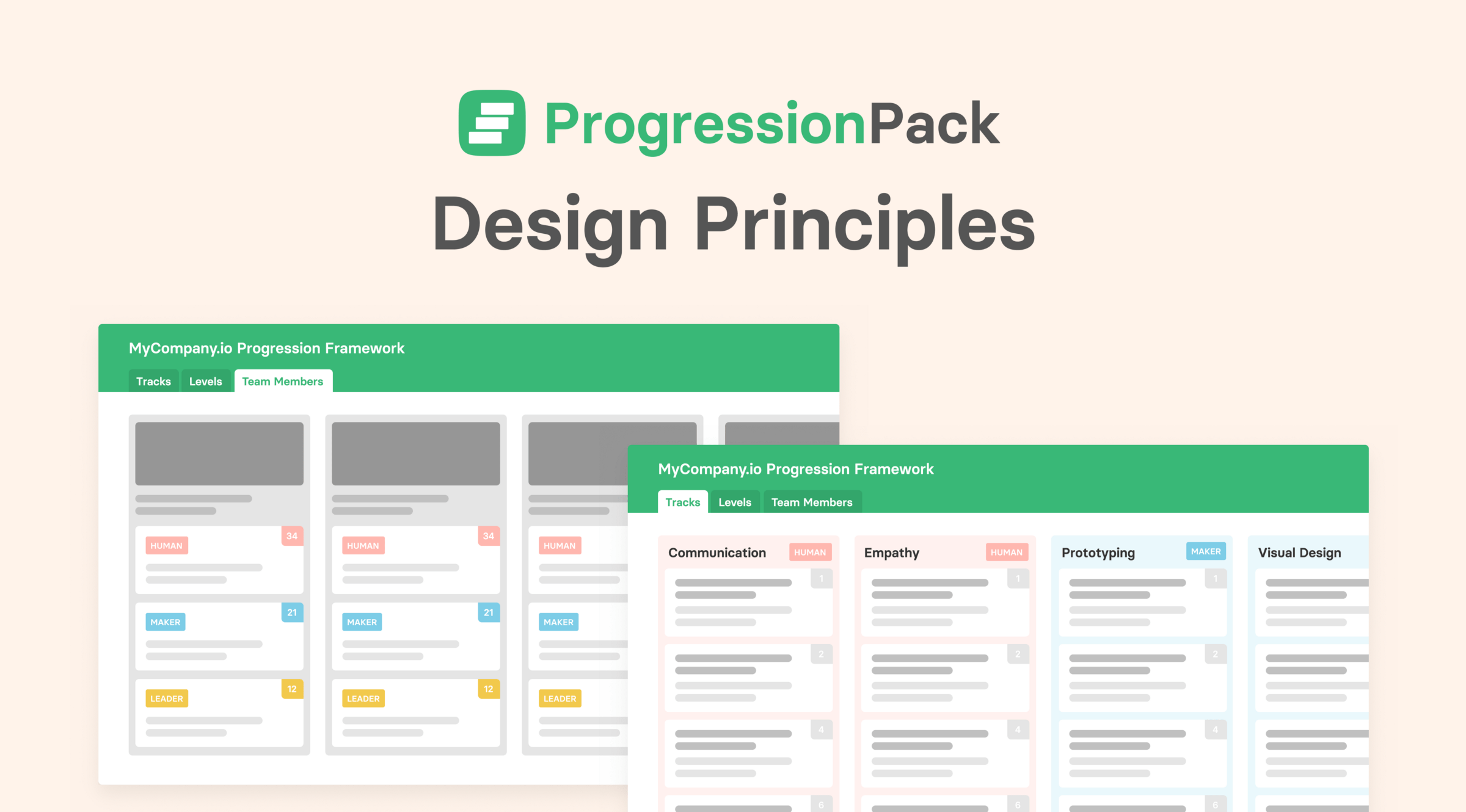 Building Progression: The importance of design principles