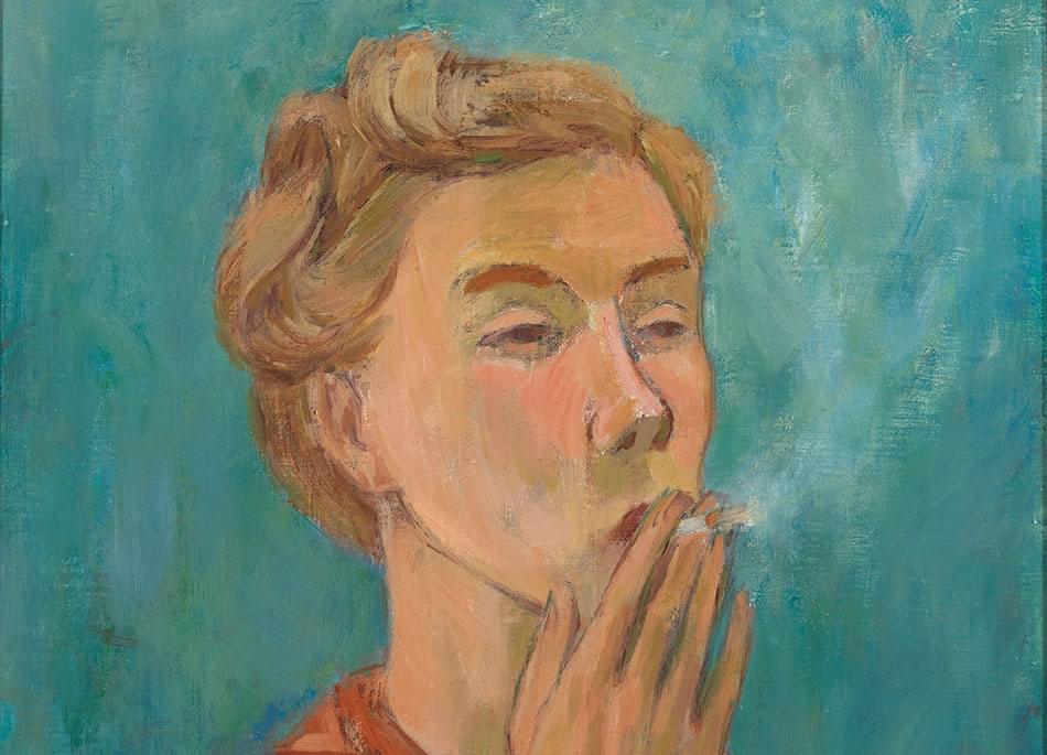 Курящая девушка (автопортрет), 1940. Фото: Finnish National Gallery/Yehia Eweis
