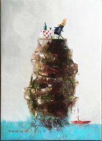 "Kristina Elo, Finland (Loviisa). ""Tablemountain"" 2020. Canvas, oil, 31 x 45cm."