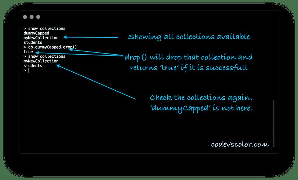 mongodb drop collection