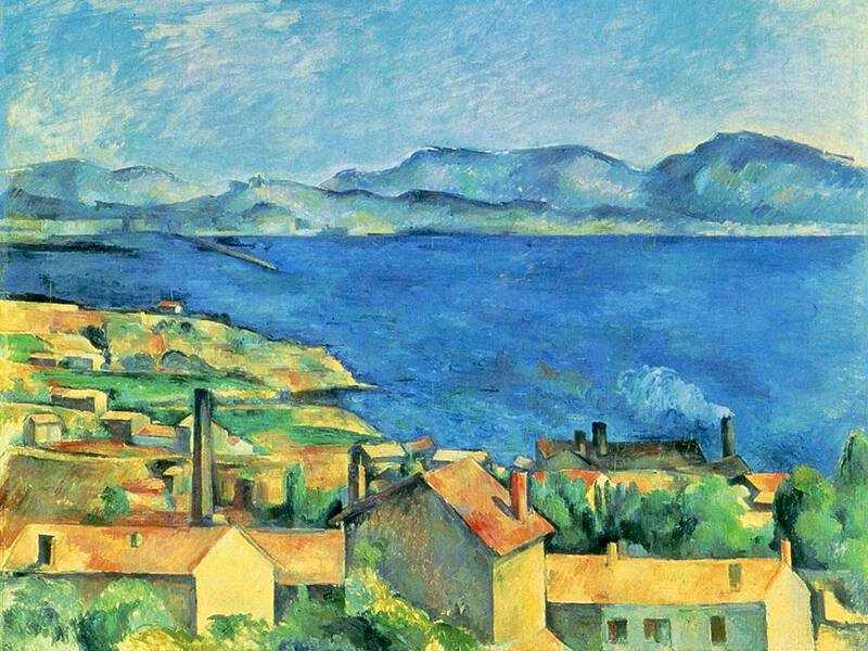 The brilliant blue of the sea is perfectly captured in Cezanne's Gulf of Marseille from Estaque.