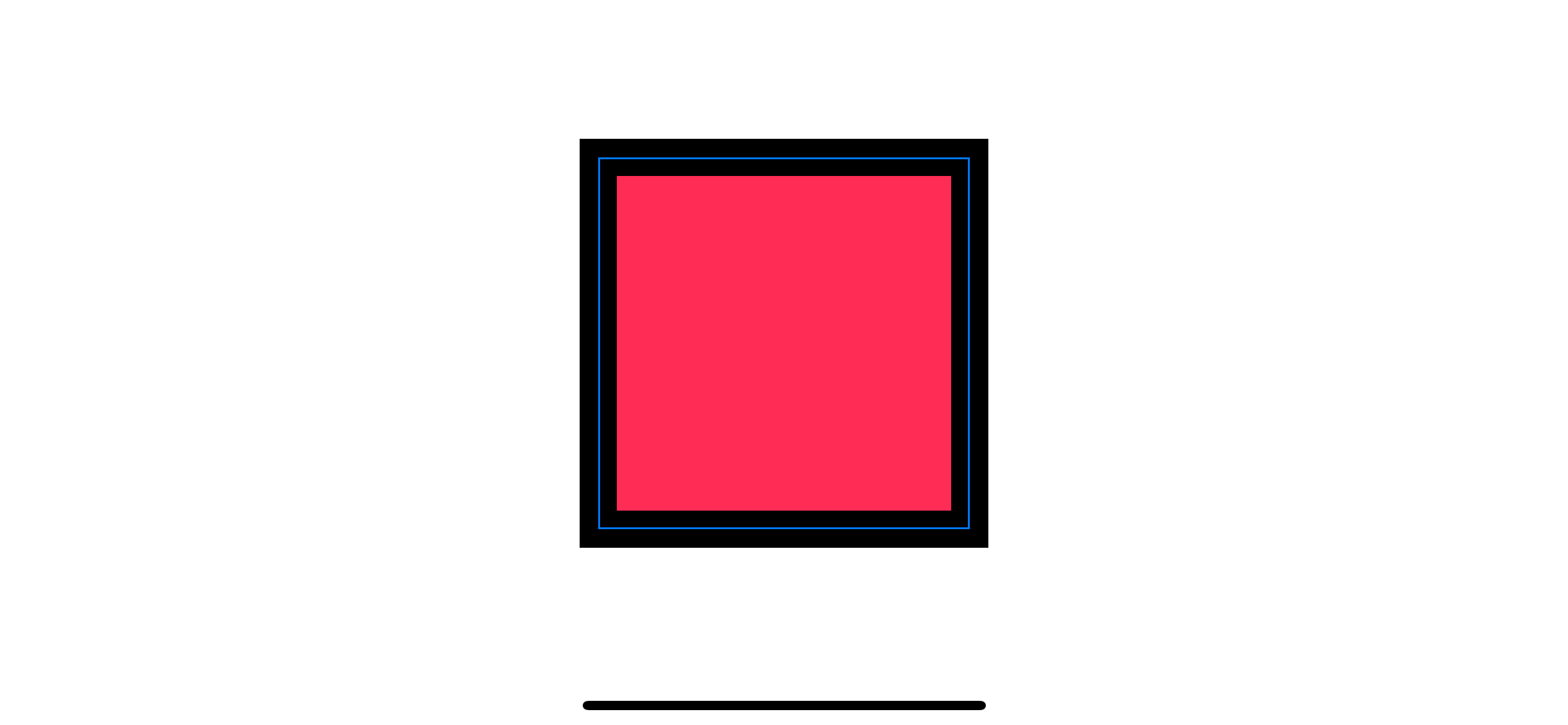 A rectangle with a stroke.