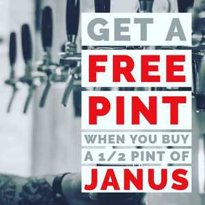 BLACK FRIDAY DEAL! Head on over to the taproom today and bag yourself a free pint at our open night on 6th December. All you need to do is buy a 1/2 pint of Janus and we'll give you a free beer token. Easy peasy lemon squeezie. Open till 7pm!