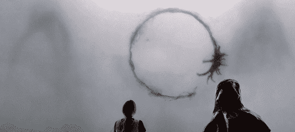 contato alienigena no filme A Chegada
