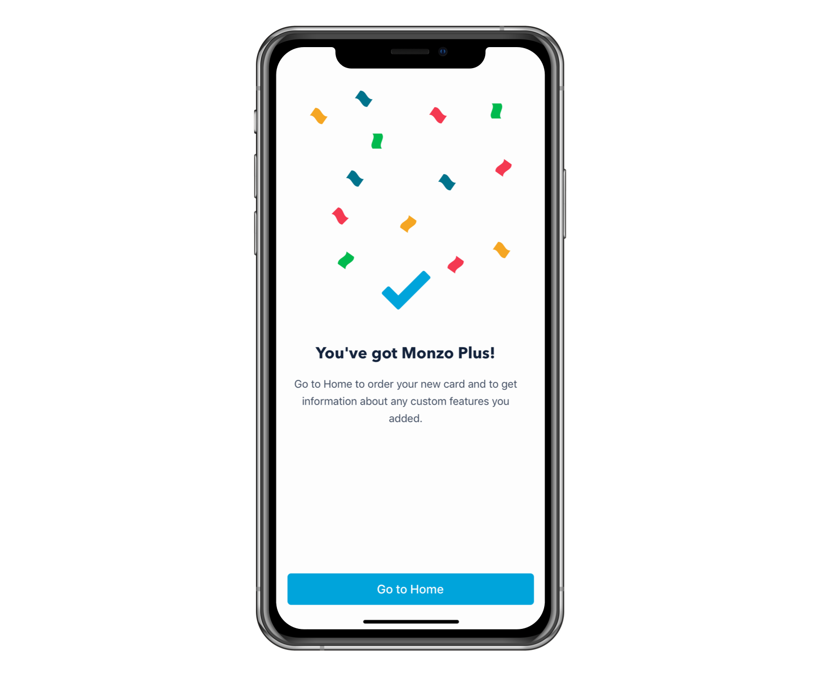 Monzo Plus confirmation screen