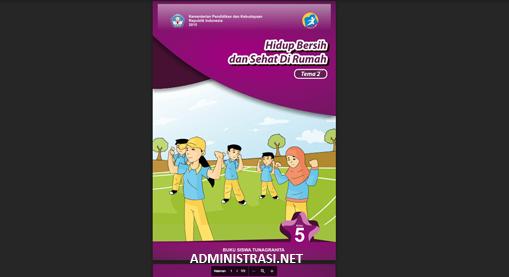 Buku Siswa Tunagrahita Kelas 5 Tema 2 Hidup Bersih dan Sehat Dirumah