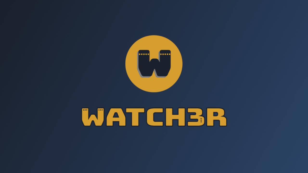 WATCH3R logo splash screen