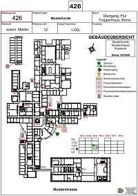 Vorschau des PDF's von Laufkarte 2 Vorderseite