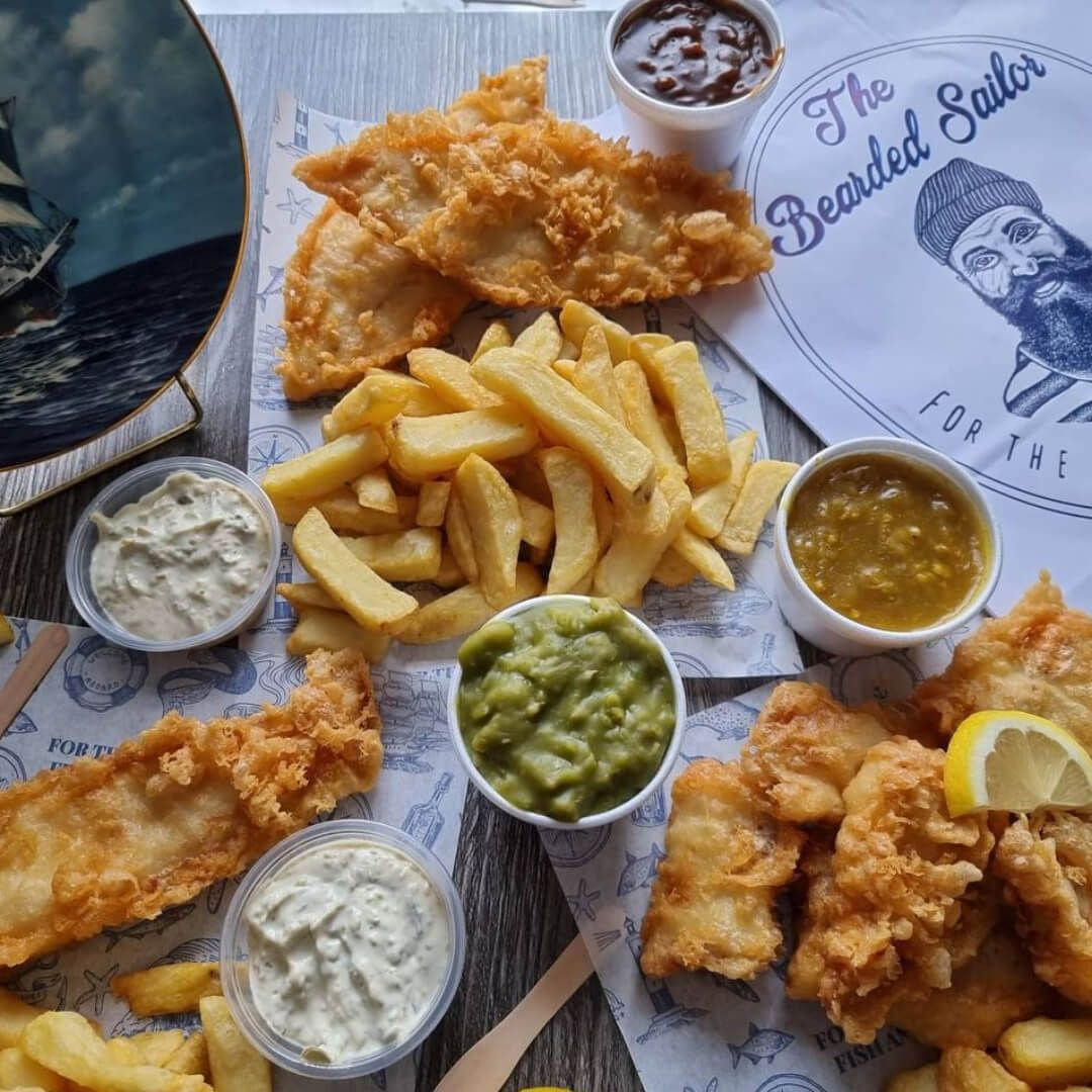 The Bearded Sailor fish and chips