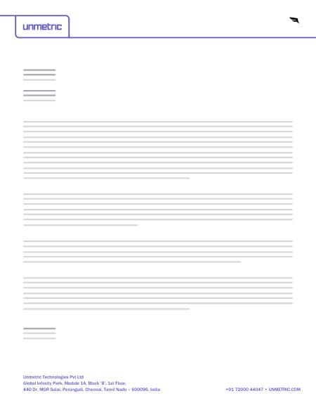 Unmetric letterhead