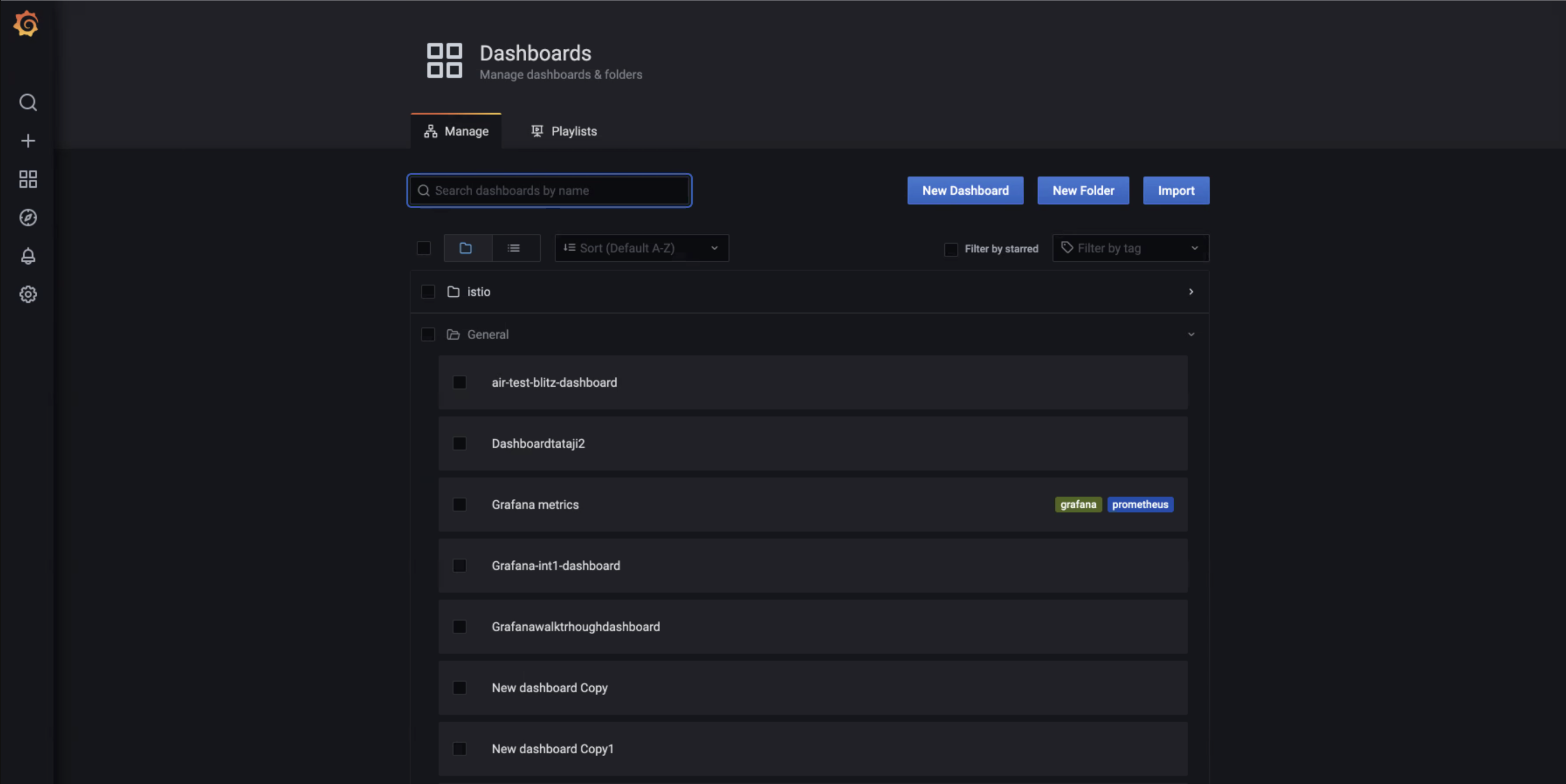 The page to create new dashboard or create existing dashboard.