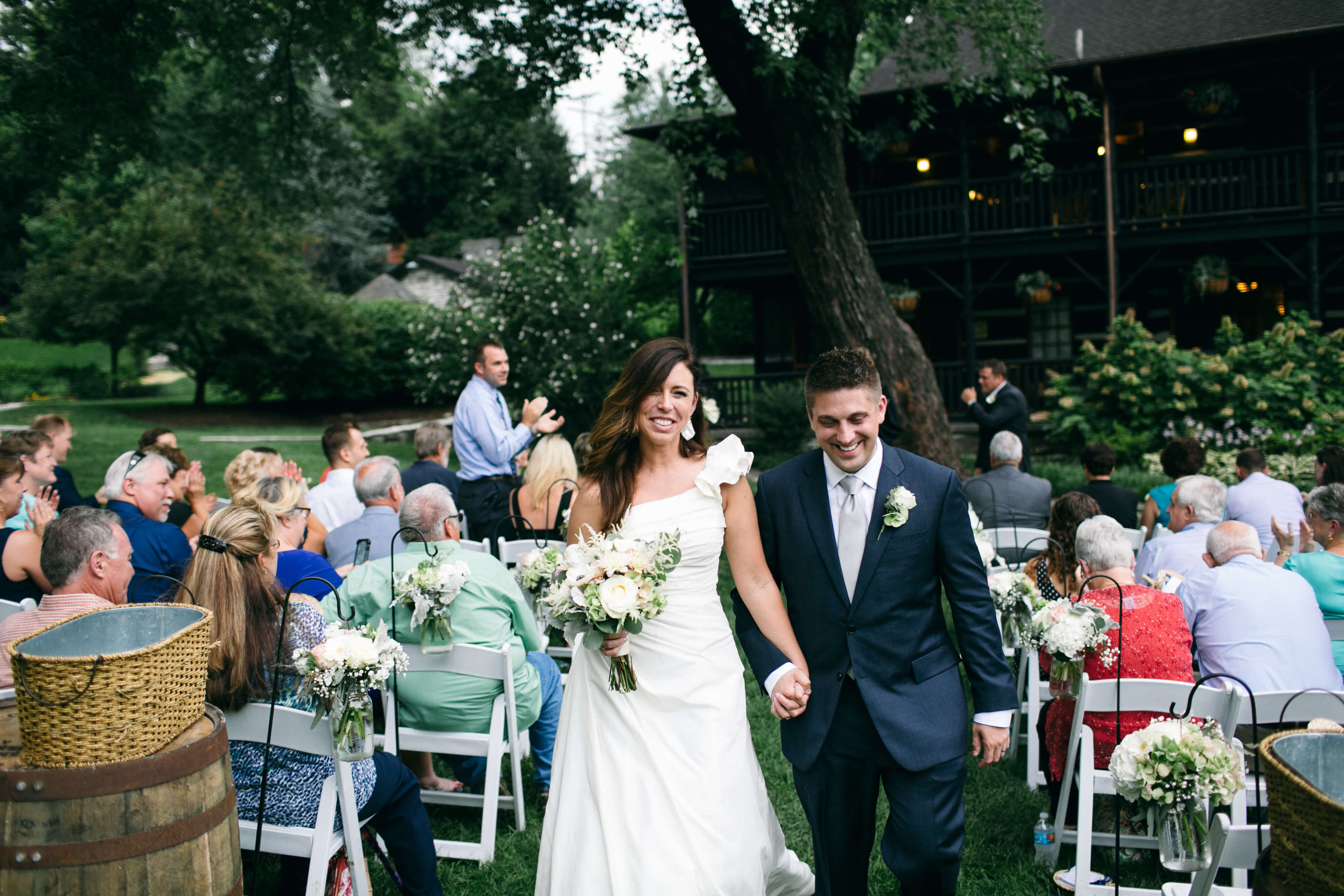 Our wedding at Buffalo Trace Distillery