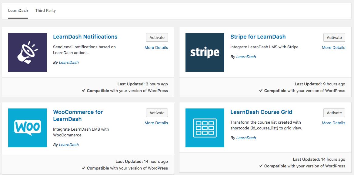 LearnDash add-ons