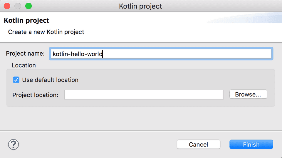 Create Kotlin Project in Eclipse