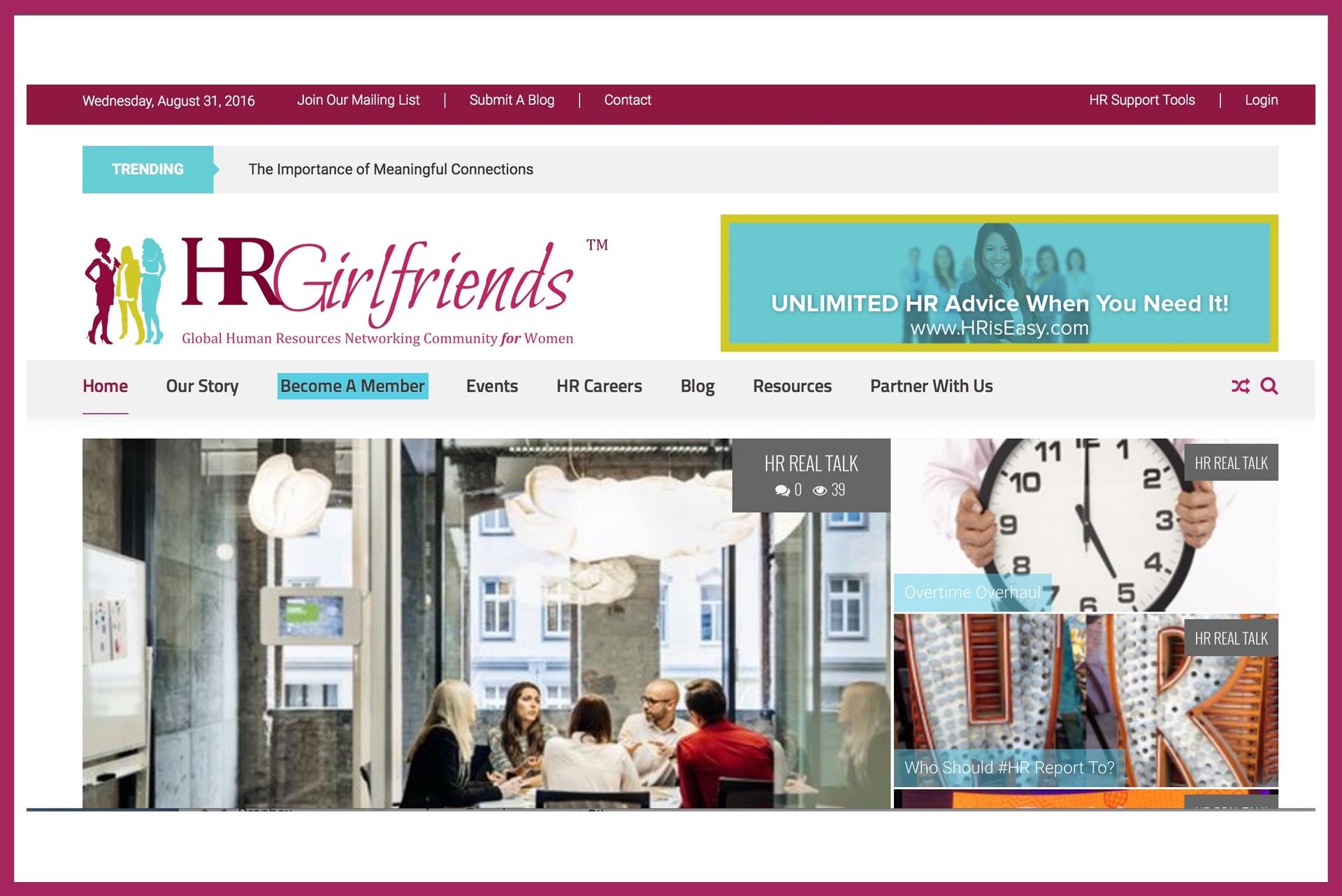HR Girlfriends Redesign & Relaunch