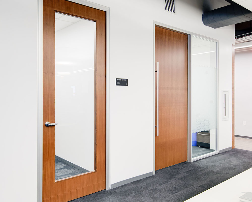 Door with built-in Large Glass Panel