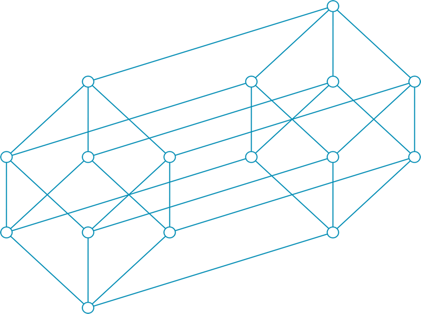 An illustration of a tesseract