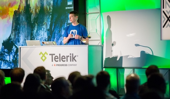 Me presenting at TelerikNEXT in 2015
