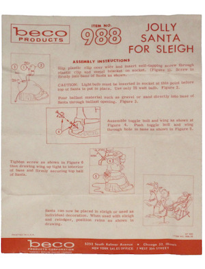 Beco Products Jolly Santa for Sleigh #988 Instruction Manual.pdf preview