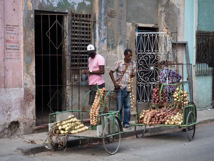Onions for sale in Havana.
