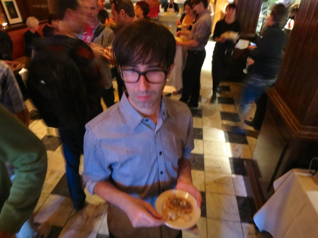 David holding his mini plate