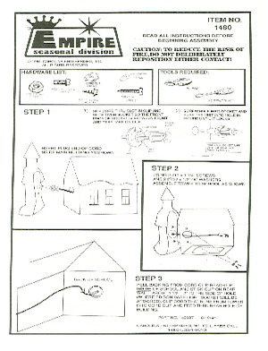 Empire School House #1480 Instruction Manual.pdf preview