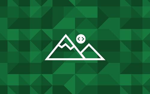 The Microsoft Edge Dev Summit logo: two mountains with a sun that has code brackets inside it