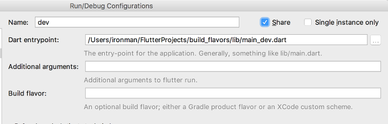 Separating build environments in Flutter apps | iirokrankka com