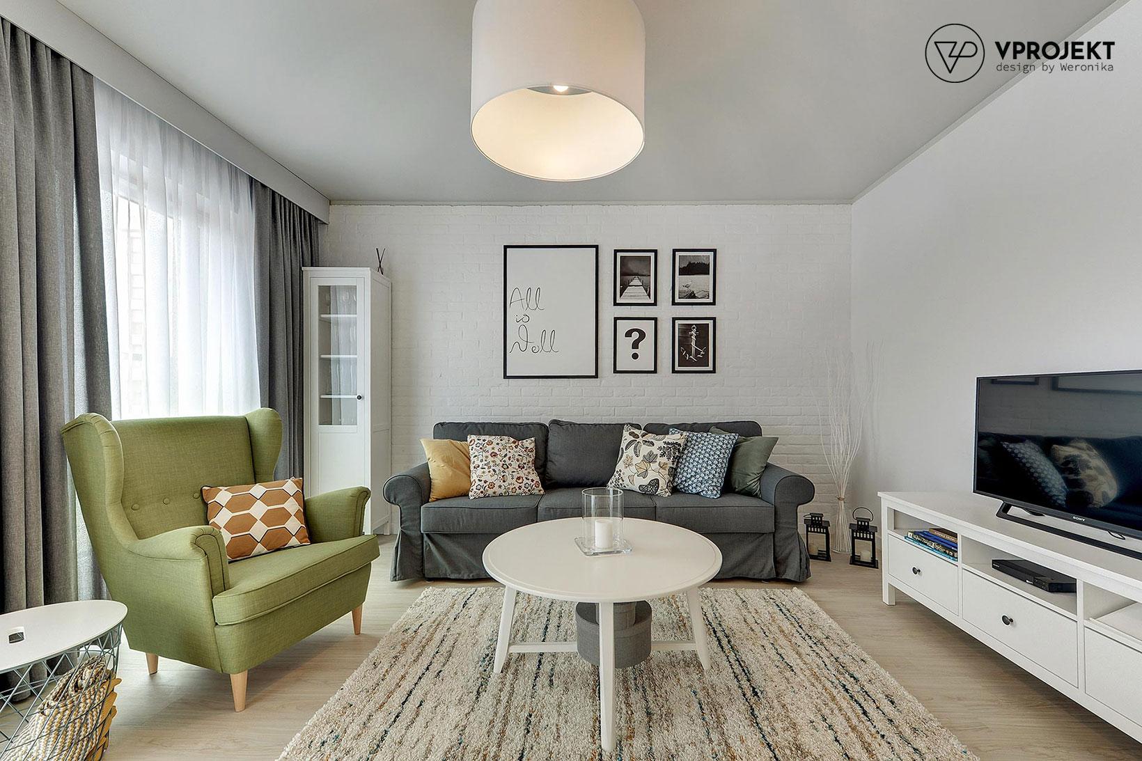 Pokój dzienny, mieszkanie do wynajęcia w Gdańsku