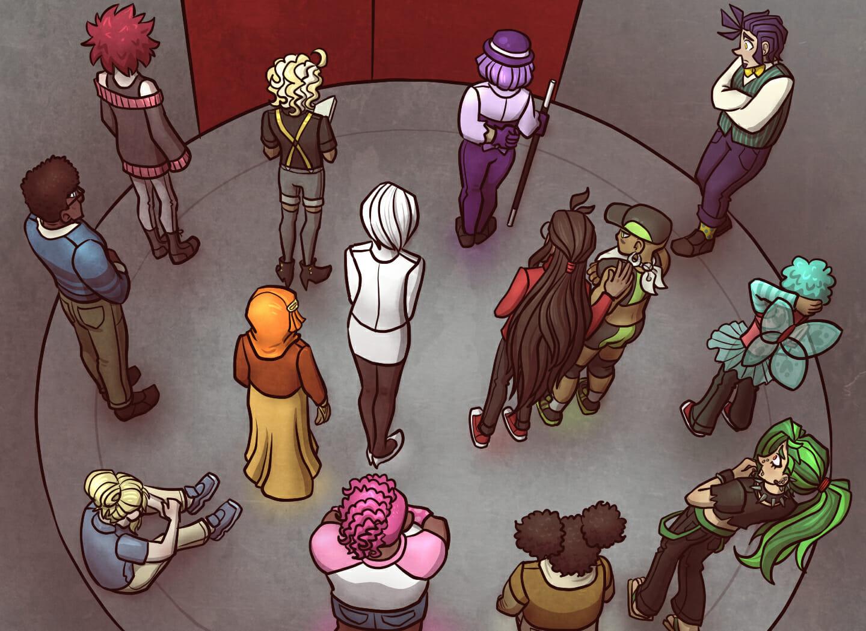 Elevator scene.
