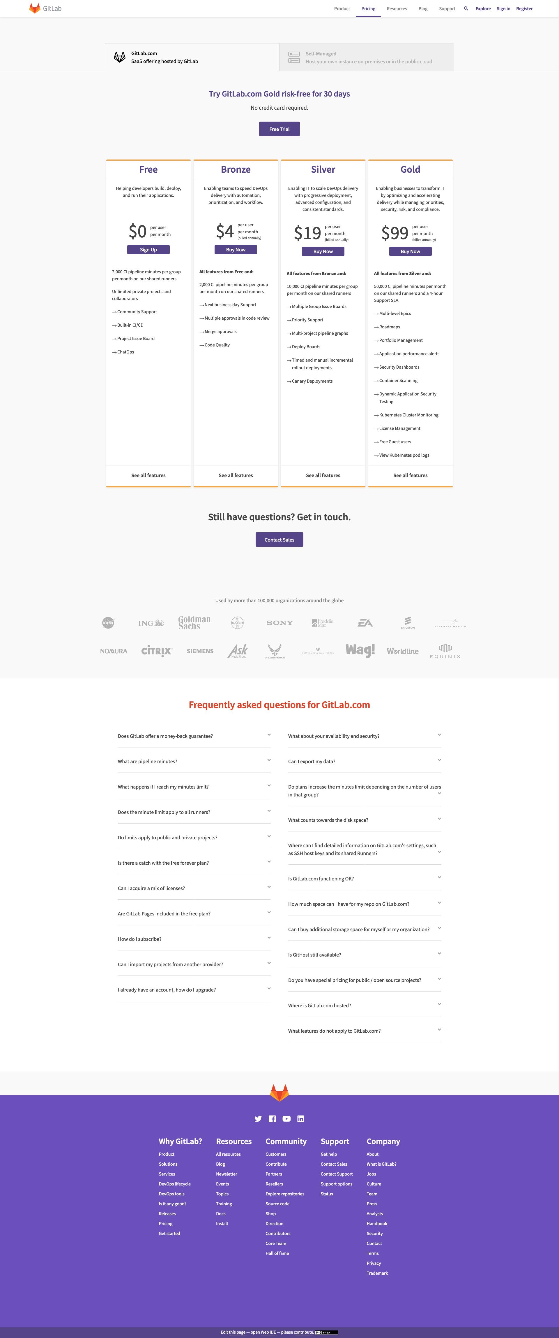 Gitlab - BestPricingPages