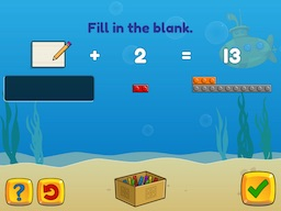 Add and subtract within 20 using brix (typing) Math Game